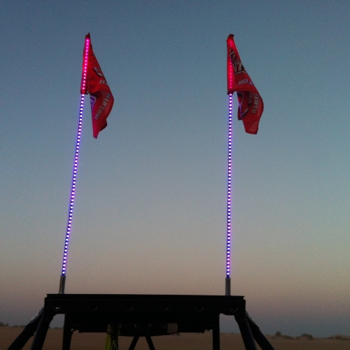 Multi color LED whips,Purple LED Whips, RZR XP1000, XP900,Glamis,Sand dunes